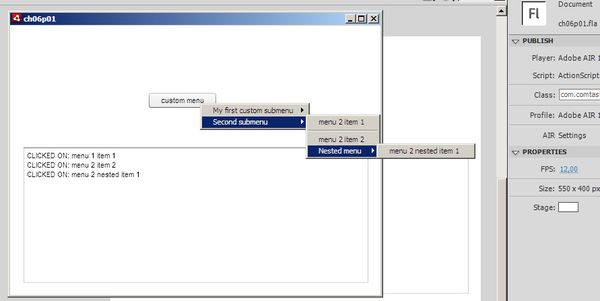 Using The Menuitemselected Method With Flash Cs4 The border=